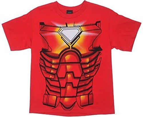 MyTeeSpot Iron Man Kinder rot Kostüm T-Shirt (7)