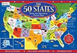 img - for The 50 States Book and Magnetic Puzzle Map [Hardcover] book / textbook / text book