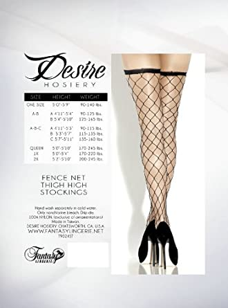 Fantasy Lingerie Women's Fence Net Thigh High Stockings