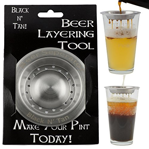 Beer Separator Black and Tan Stainless Steel Beer Layering Tool (Beer Making Spoon compare prices)