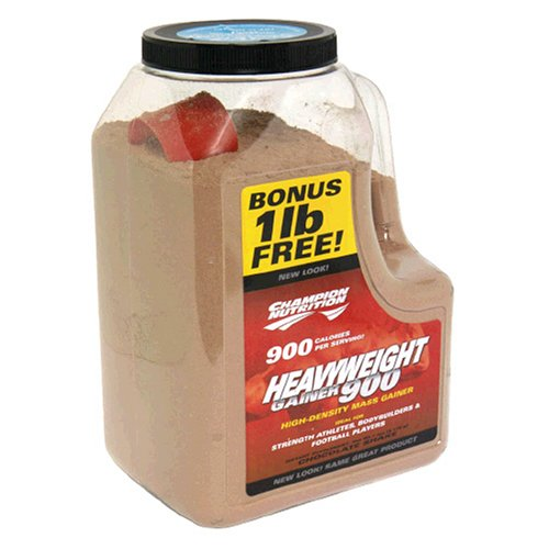 Champion Nutrition Heavyweight Gainer 900 High-Density Mass Gainer, Chocolate Shake, 7-Pound Plastic Jar