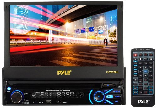Portable, Pyle Plts76Du 7-Inch Touch Screen Motorized Tft/Lcd Monitor With Dvd/Cd/Mp3/Am/Fm Receiver Consumer Electronic Gadget Shop