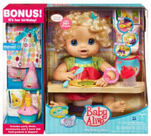 Mi Baby Alive Muñeca Baby Alive paquete EXCLUSIVO Cumpleaños! - Muñeca rubia