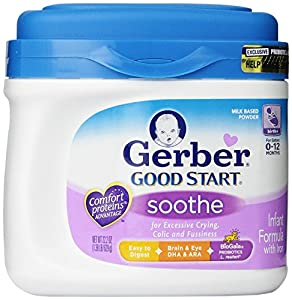 Gerber Good Start Soothe Powder Infant Formula, 22.2 Ounce, Packaging May Vary