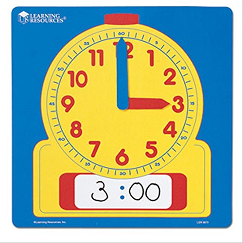Learning Resources Write-On/Wipe Off Demo Clock - 1