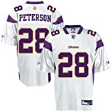 Adrian Peterson Minnesota Vikings WHITE Equipment - Replica NFL YOUTH Jersey (X-Large 18/20)
