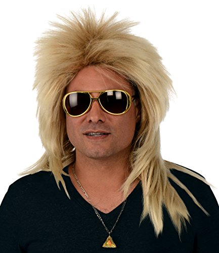 Kangaroo Costume Wigs; Long 80s Rocker Wig,