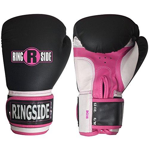Ringside Pro Style Training Gloves, Black/Pink, Large/X-Large