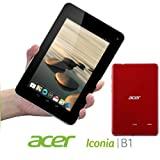 Acer Iconia B1-710 1GB RAM 16GB Internal Storage Dual Core 1.2Ghz Processor 7-inch multi-touch display (1024 x 600) Webcam WiFi Bluetooth 4.0 Micro USB 2.0 Android 4.1 Jelly Bean (Vermillion Red)