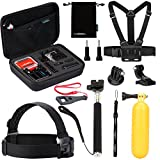 Luxebell-10-in-1-Value-Pack-Accessories-Kit-for-Gopro-Hd-Hero-4-Session-Hero3-Hero3-Hero2-Hero-Lcd-Head-Strap-Chest-Mount-Harness-Handheld-Monopod-Carry-Case