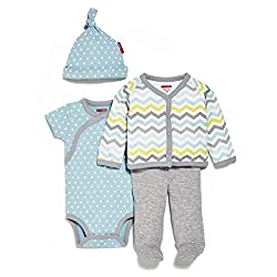 SkipHop Baby-Boys Starry Chevron 4 Piece Welcome Home Set, Blue, 3 Months