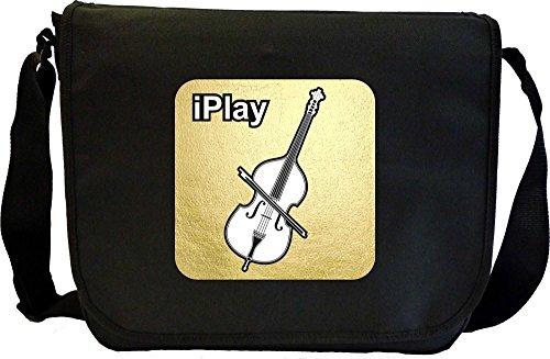 Double Bass I Play - Sheet Music Document Bag Borsa Spartiti MusicaliTee