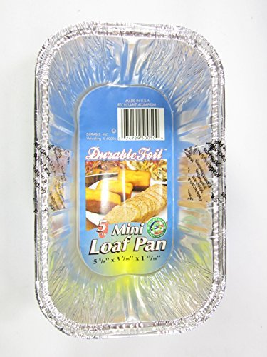 15 Disposable Aluminum Mini Loaf pans (Mini Loaf Pan Disposable compare prices)