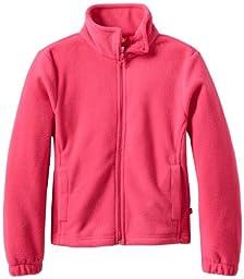 Dickies Big Girls\' Polar Fleece Zip Jacket, Beetroot Pink, Medium (10/12)