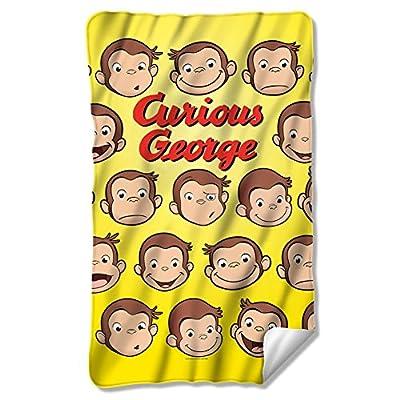Curious George Heads Fleece Blanket