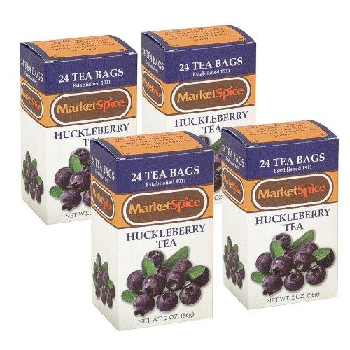 Huckleberry Tea Marketspice 24 Tea Bags Box (4 Boxes)