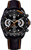 Tag Heuer Grand Carrera Black Dial Leather Automatic Chronograph