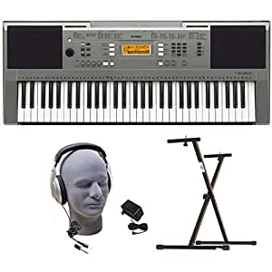 Yamaha PSRE353 Portable Keyboard with Headphones, Power