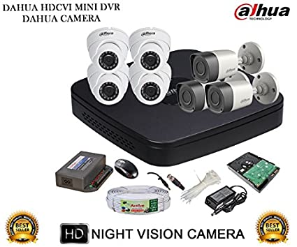 Dahua-DH-HCVR4108C-S2-8CH-Dvr,-4(DH-HAC-HDW1000RP)-Dome,-3(DH-HAC-HFW1000RP)-Bullet-Camera-(With-Accessories,-2TB-HDD)
