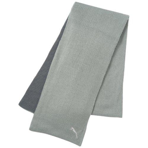 Puma, Sciarpa Unisex FunDonnatals Knit Sciarpa, Grigio (limestone gray-steel grey), Taglia unica