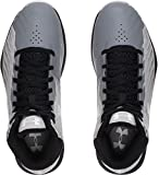 Under Armour Kids Grade School UA Jet Basketball Shoes Steel/White/Black 6 Big Kid M