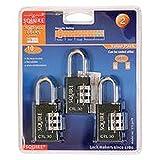 PADLOCK 30MM TOUGHLOK COMBINATION 3 PACK Security Locks