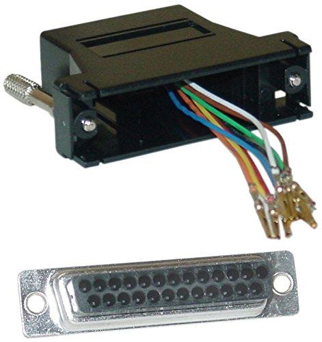 Offex Of-31D3-3740Bk Modular Adapter, Db25 Female To Rj45, Black