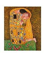 Arte Dal Mondo Pintura al Óleo sobre Linezo Klimt Bacio