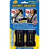 Masterlink Marketing 296-bu Black Seatbelt Adjuster, (Pack of 2)