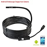CrazyFire® 5.5mm Ultra Slim Android Smartphone USB Endoscope Inspection Camera, IP67 Waterproof OTG Micro USB Borescope Android Flexible Camera with 6 LEDs and 3.5m/11.48ft Cable