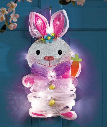 Hanging Lighted Geo Mesh Bunny