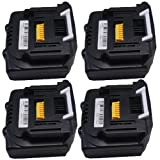 Replacement 4x Makita Battery BL1430, BL1415 for Makita Tools BHP440RFE, BDF440RFE, BTW250RFE, BTD133RFE, BTD130FRFE, BTD135RHE, BTS130RFE, BGA450RFE, BDF444RFE, BDF444Z, BHP444RFE, BHP444Z, BDA341RFE, BHP343, BDF343, BDF343RHE, BDF446, BTD130FZ, BTD132R
