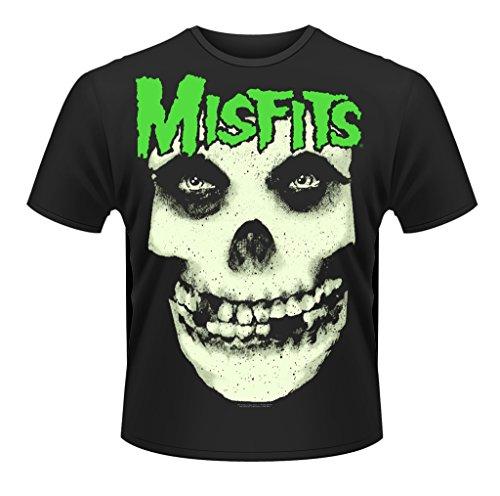 Misfits Glow Jurek Skull Rock Punk ufficiale Uomo maglietta unisex (Small)