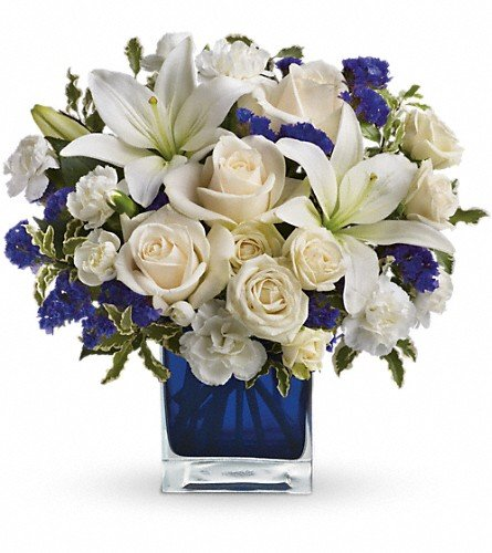 Teleflora's Sapphire Skies Bouquet – Flowers