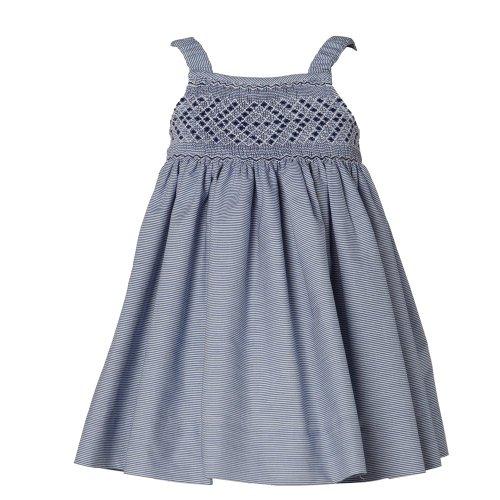 Kidiwi Navy And White Stripe Hand Smocked Cotton Dress 6
