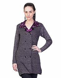 Montrex Gray Designer Long Coat For Women