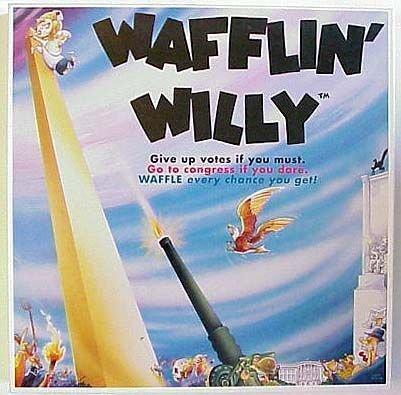 Wafflin Willy Waffling Bill Clinton Board Game