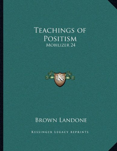 Teachings of Positism: Mobilizer 24 (Mobilizer 24 compare prices)
