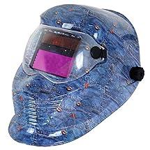 JEXONA Solar Power Auto Darkening Welding Helment 9003 Color Blue Jean