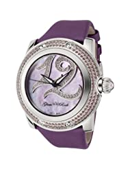 Glam Rock Women's GR80005 Special Edition Collection Diamond Accented Purple Techno Watch