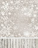 Christmas Gifts Romactic Snowflakes 6.5 Ft5 Ft Polyester Cotton Photo Background Seamless Waterproof Printed Photography Backdrop
