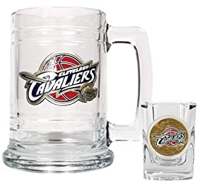 NBA Cleveland Cavaliers Boilermaker Set - Primary Logo by Great American Products