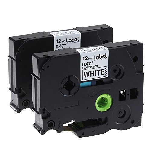Label KINGDOM 2 Pack P Touch Label Tape Compatible Brother P-touch (TZ231 TZe231) Standard Laminated, Black on White, 0.47 Inch(12mm) x 26.2 Feet(8m) (12mm Tape Brothers Labeler compare prices)