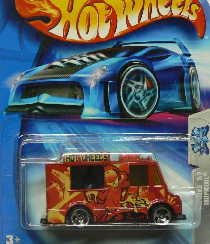 Hot Wheels 2004-142 Tag Rides Tropicool RED Truck 1:64 Scale - 1