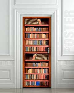Bookcase door sticker