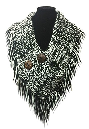 luxury-stylish-fleecy-hand-knit-collar-snood-with-coconut-button-detail-black