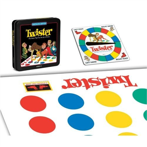 Twister Classic Board Game With Nostalgic Tin Case