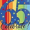 A Year To Celebrate Happy Birthday 65 Napkins