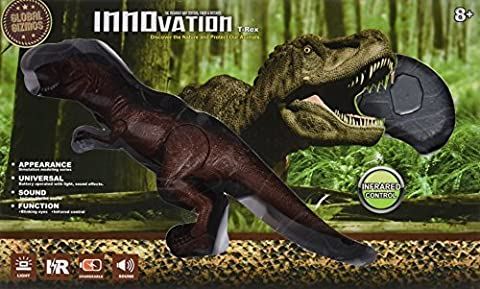 Global Gizmos 53210 Infrared Remote Control T-Rex Tyrannosaurus Rex Dinosaur by Global Gizmos - Jaw Snapping T-rex Dinosaur Toy
