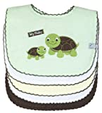 Feeder Bib Set (5 pack) Picot Woodland, Turtle (green), Frenchie Mini Couture